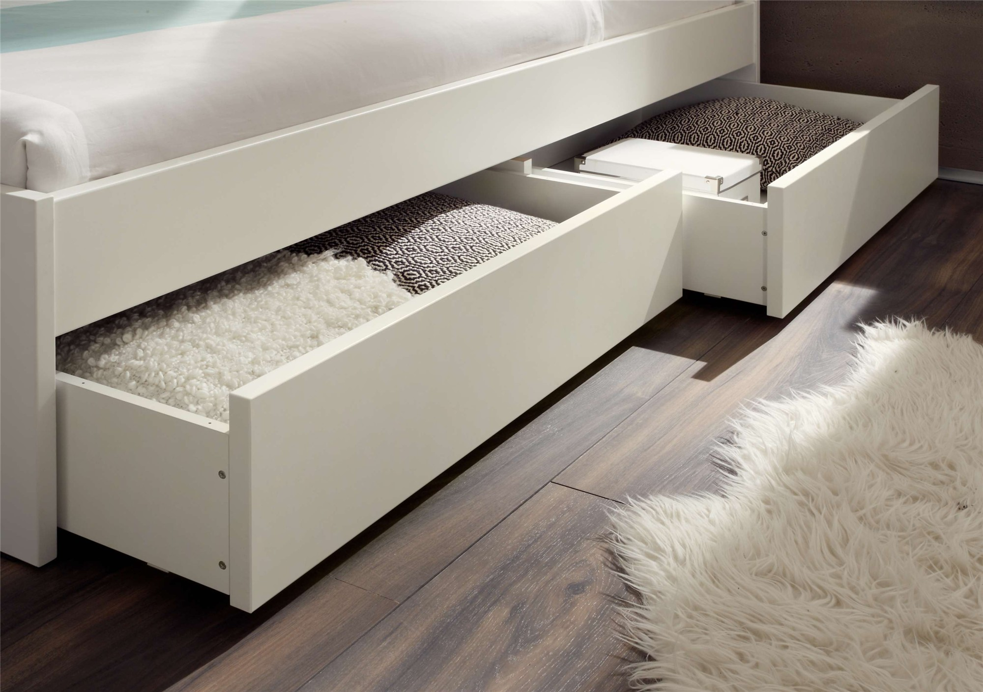 Contemporary designer beds » hasena spazio duetto   solid beech ...
