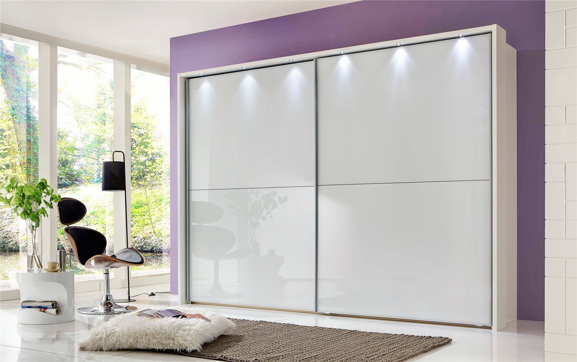 Bedroom Mirrored Furniture Linus By Stylform Glass Sliding Door Wardrobe Head2bed Uk