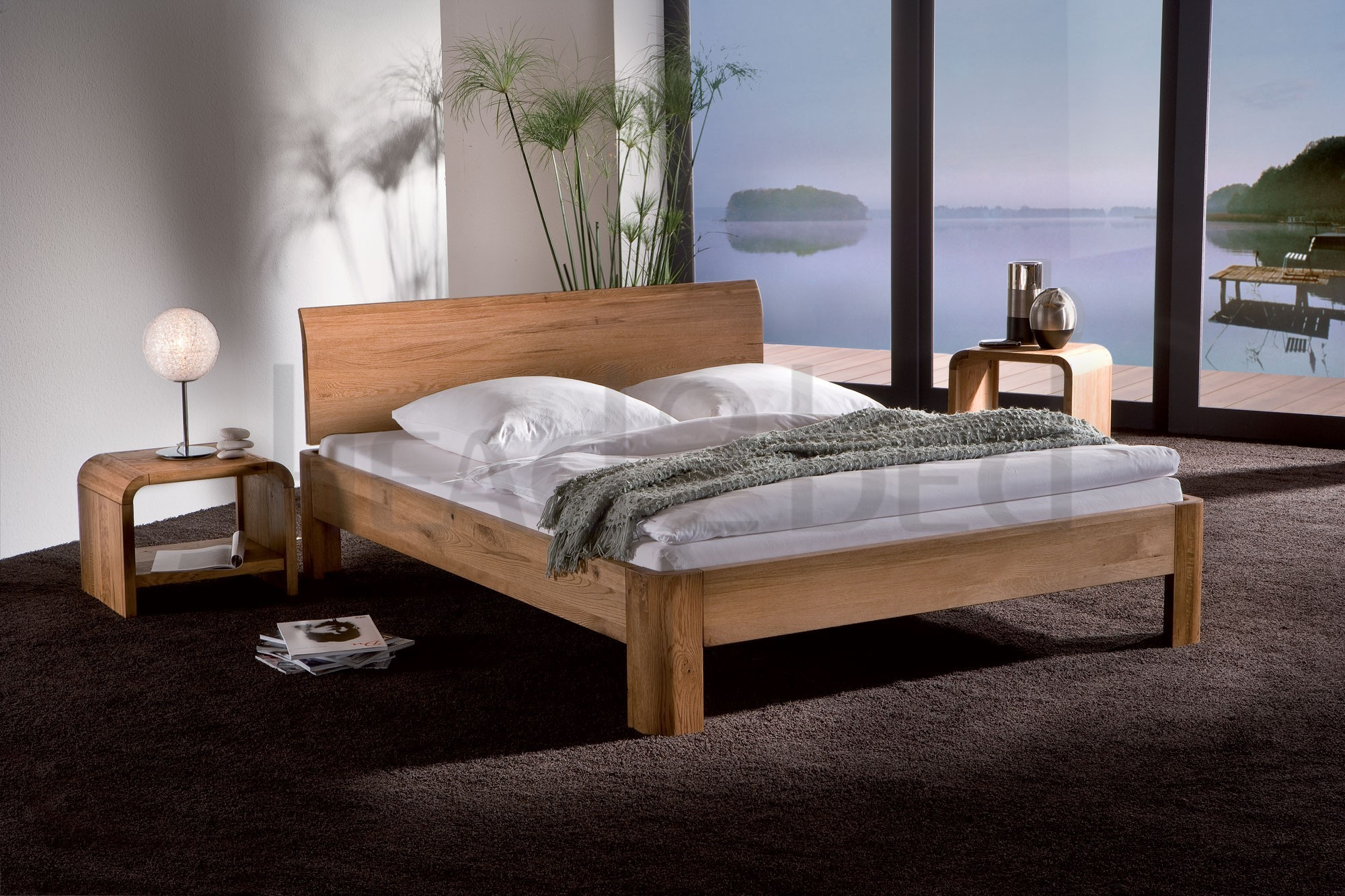 solid wood beds hasena oakline ronda lisio solid oak. Black Bedroom Furniture Sets. Home Design Ideas
