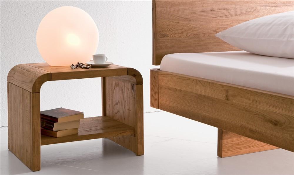 Hasena oakline plato modern solid oak bedside table head2bed uk - Modern bedside tables ...
