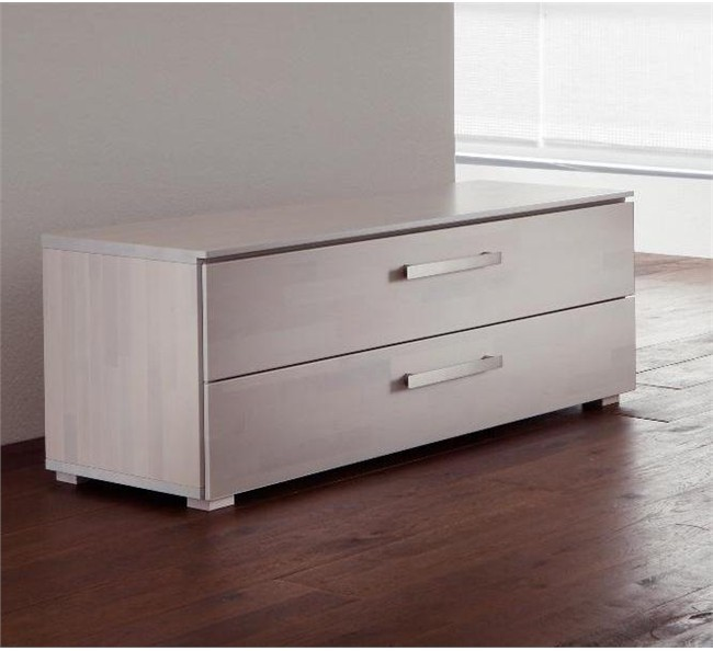 Hasena Woodline Carvo 2 Drawer Wide Bedside Table Chest
