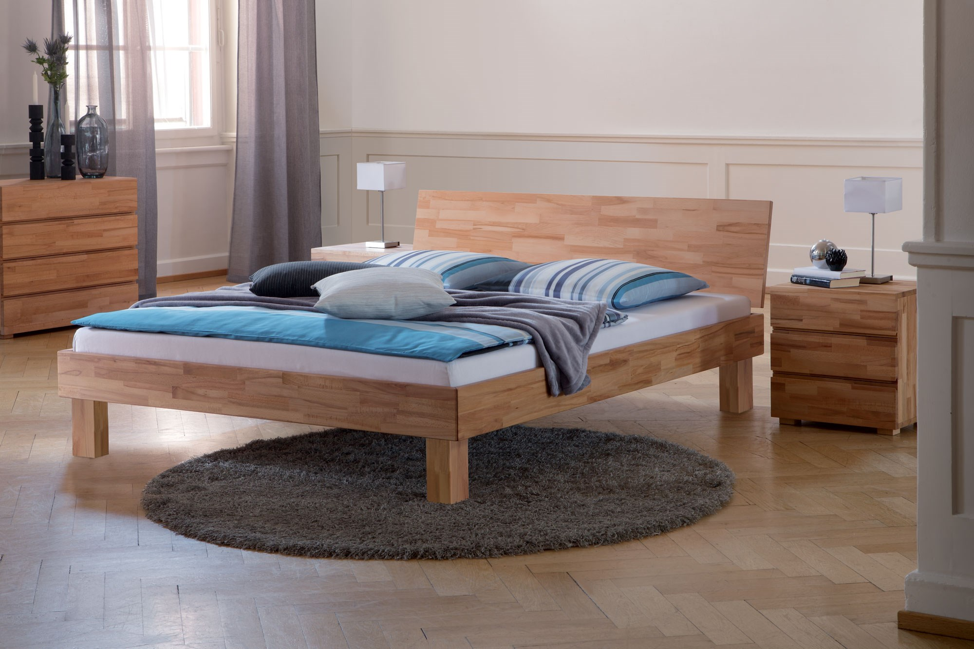 Solid Wood Beds Hasena Woodline Cantu Varus Solid Wood