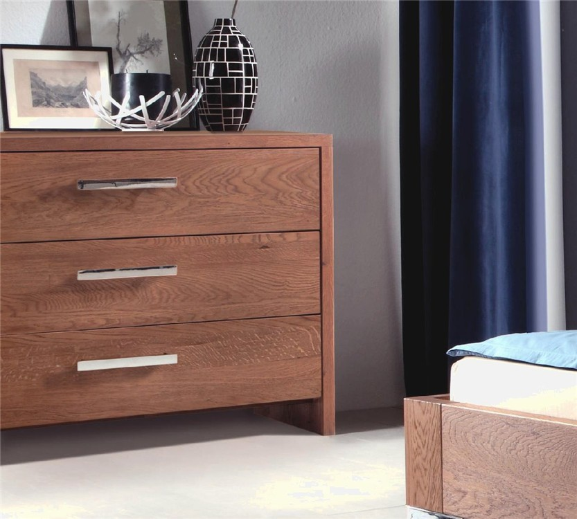 Hasena Cessa Solid Oak Xl Chest Of Drawers Head2bed Uk