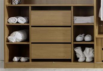 Combination chest of drawers/shelves