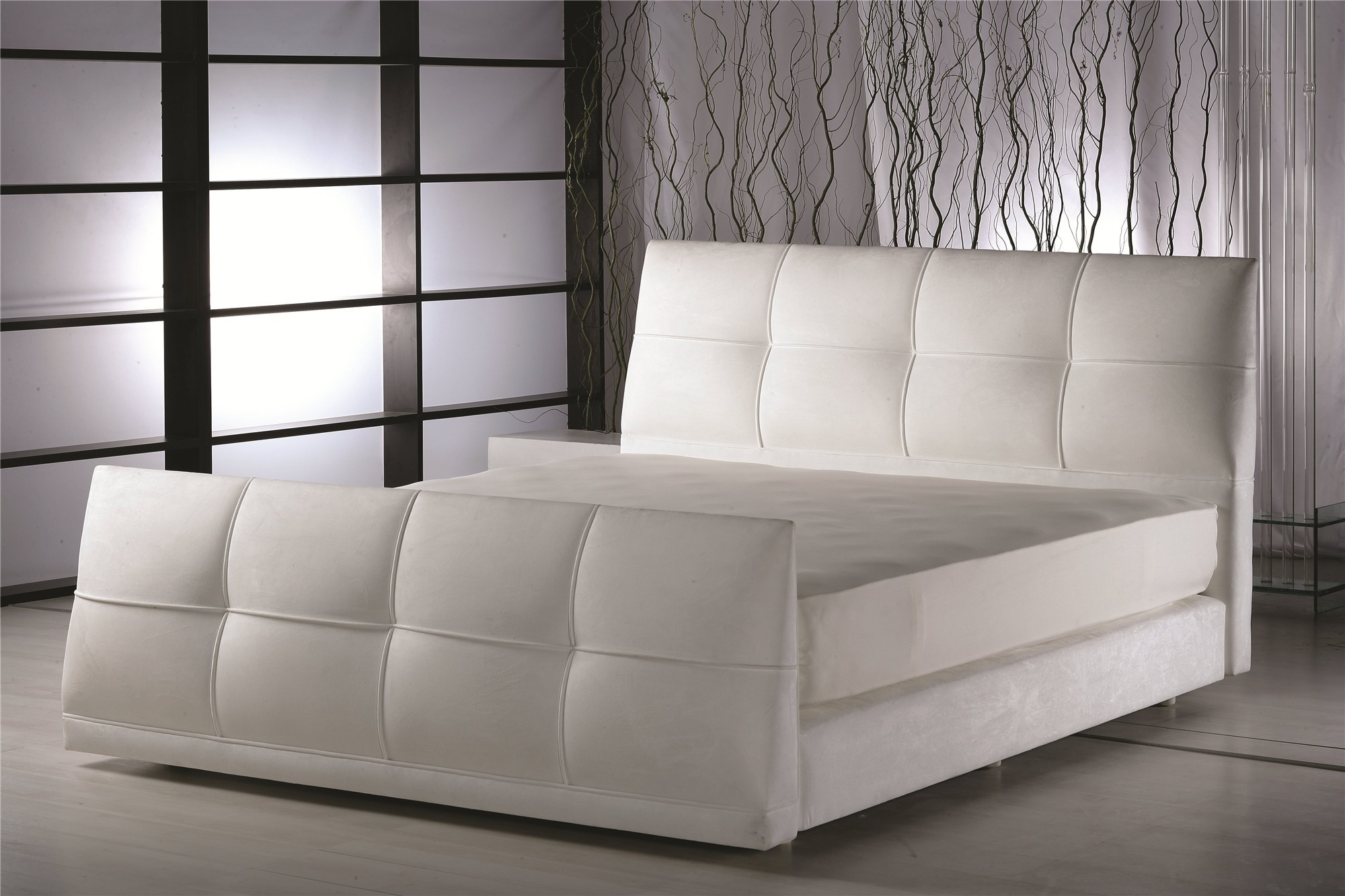yatsan violette modern upholstered bed with footboard. yatsan violette modern upholstered bed with footboard  headbed uk