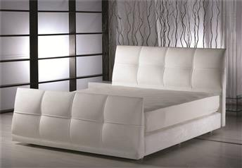 Yatsan VIOLETTE Contemporary Classic Upholstered Bed with footboard