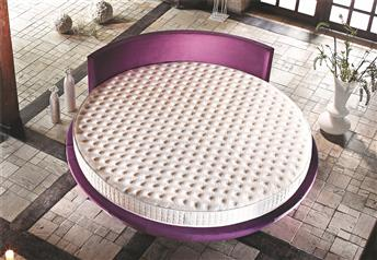 Yatsan Wish Modern Upholstered Round Bed