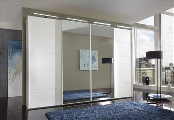 Stylform PLUTUS 150/200cm Wardrobe in Glass/Wood/Mirror