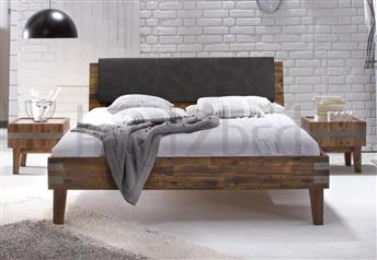 Hasena Gola Varus Ravo - Solid Acacia Vintage Real Leather Bed