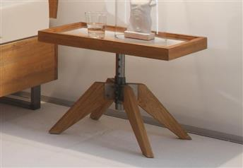 Hasena Carpi - Solid Oak Bedside Table - Adjustable Height