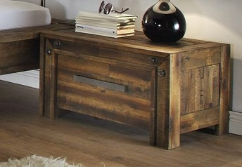 Hasena Rio bedside table - Acacia Vintage 1 drawer bedside table