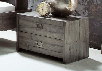 Hasena Cali Bedside table - Acacia Vintage 2 drawer bedside table