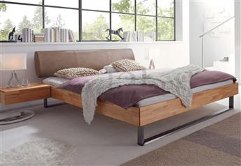 Hasena Indus Elipsa - Solid Beech Real Leather Bed