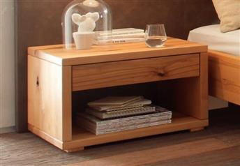 Hasena Cubo Rustic Solid Beech bedside table