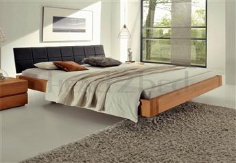 Hasena Cora Ronna - Solid Oak Real Leather bed