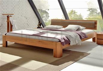 Hasena Corno Alpa Lumo - Solid Oak Real Leather bed