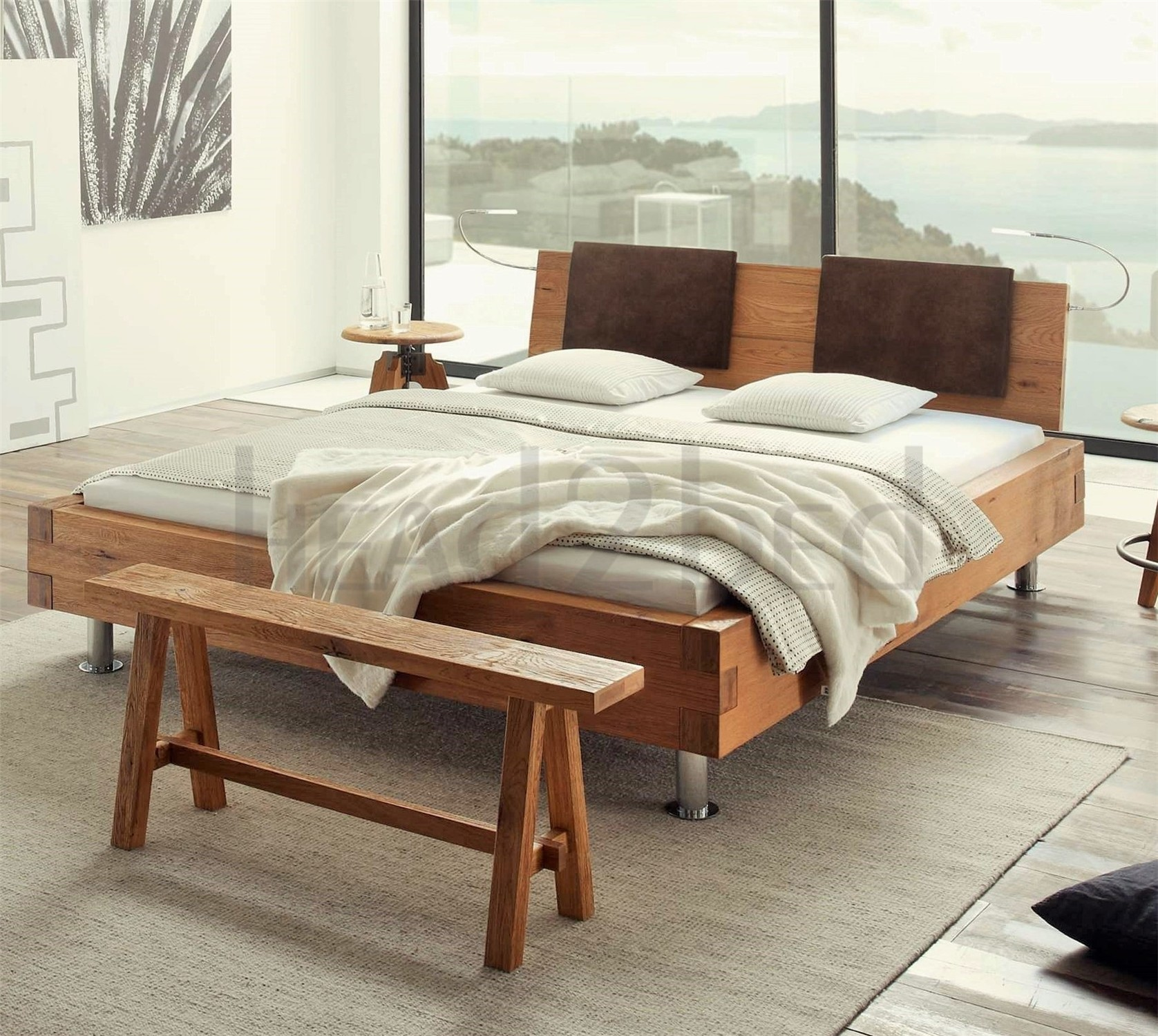 Oak Bedroom Contemporary Designer Beds A Hasena Pilatus Grado Sion Character