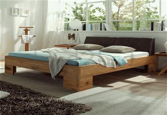 Hasena Cova Ceneri - Character Solid Oak Real Leather Bed