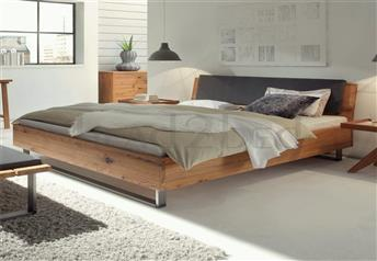Hasena Indus Sion Ravo - Character Solid Oak Real Leather bed