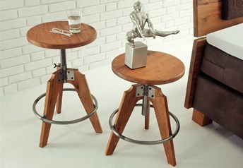 Hasena John Stool character Solid Oak and iron