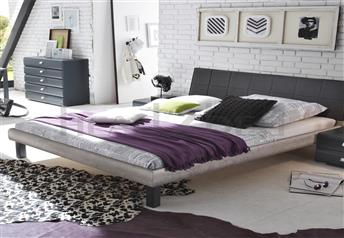 Hasena Caro Ronna Real Leather Modern Bed