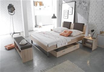 Hasena Indus Orva Varo Real Leather Modern Bed