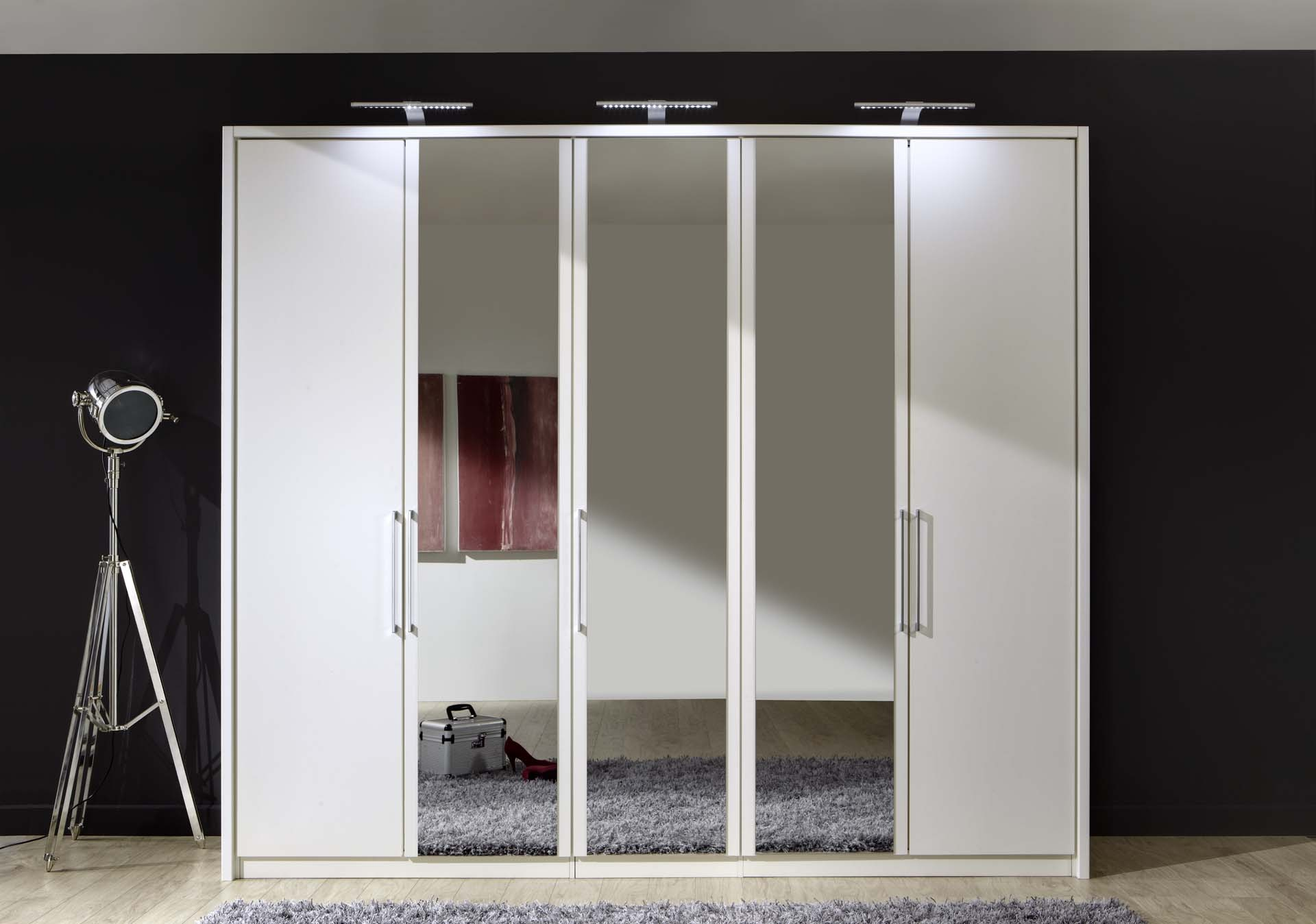 Stylform linus hinged door wardrobe wood and mirror for Wardrobe door finishes