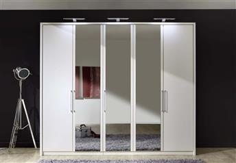 Stylform LINUS - 150-300cm Wood & Mirror Wardrobe