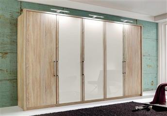 Stylform Linus Hinged Door Wardrobe - Wood & Glass