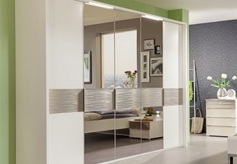 Stylform Zeus - Wood and Mirror Hinged Door Wardrobe
