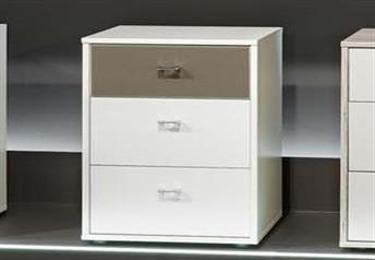 Stylform Mars 40cm - 3 Drawer Bedside Table
