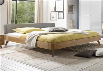 Hasena Masito Boga Solid Oak Real Leather Modern Bed