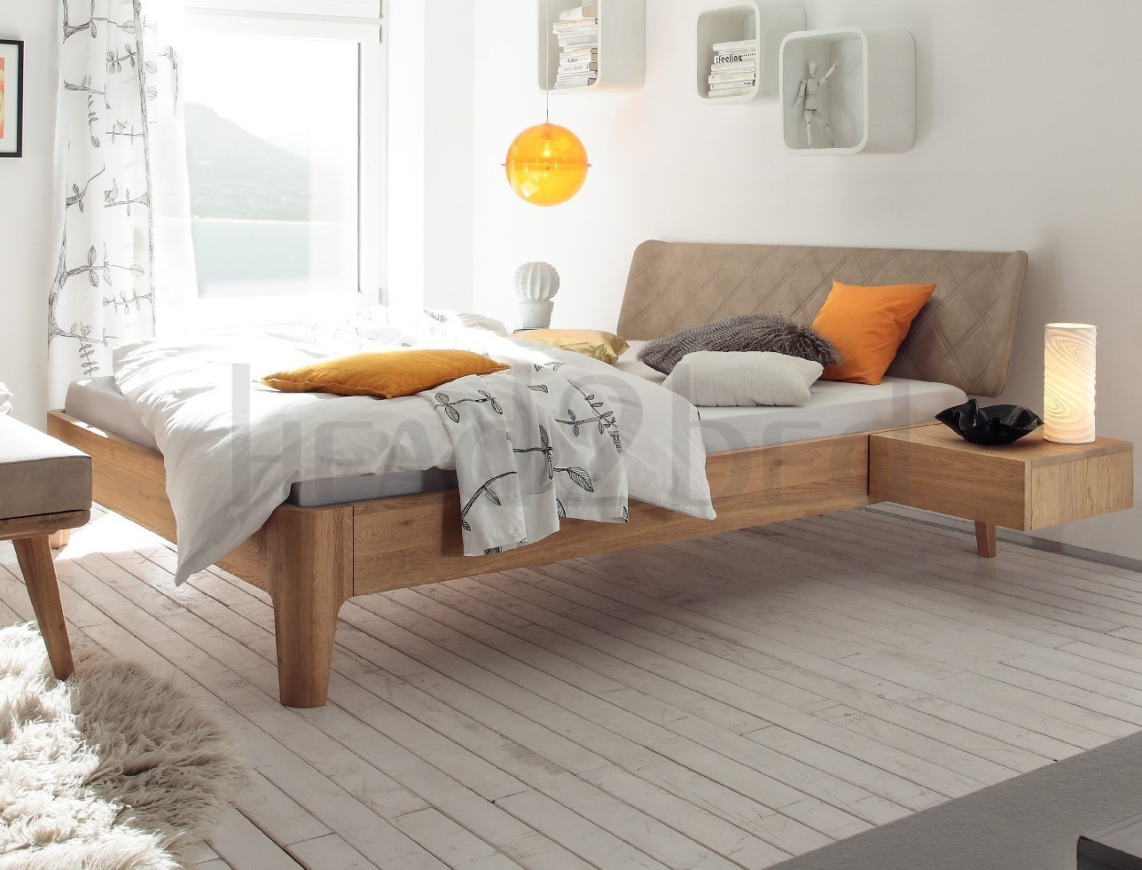 contemporary designer beds hasena xylo boga solid oak. Black Bedroom Furniture Sets. Home Design Ideas