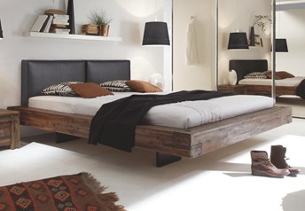 Hasena Vilo Bloc Dorma - Solid Acacia Vintage Real Leather Modern bed