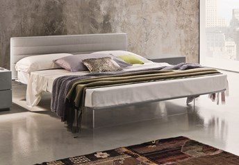 Veneran Italia SLIM Solid Birch & Ash Bed with Real Leather