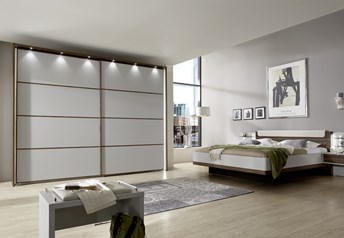 Stylform HYPNOS Bedroom Set - 150-300cm Sliding Door Wardrobechampagne & noce finish