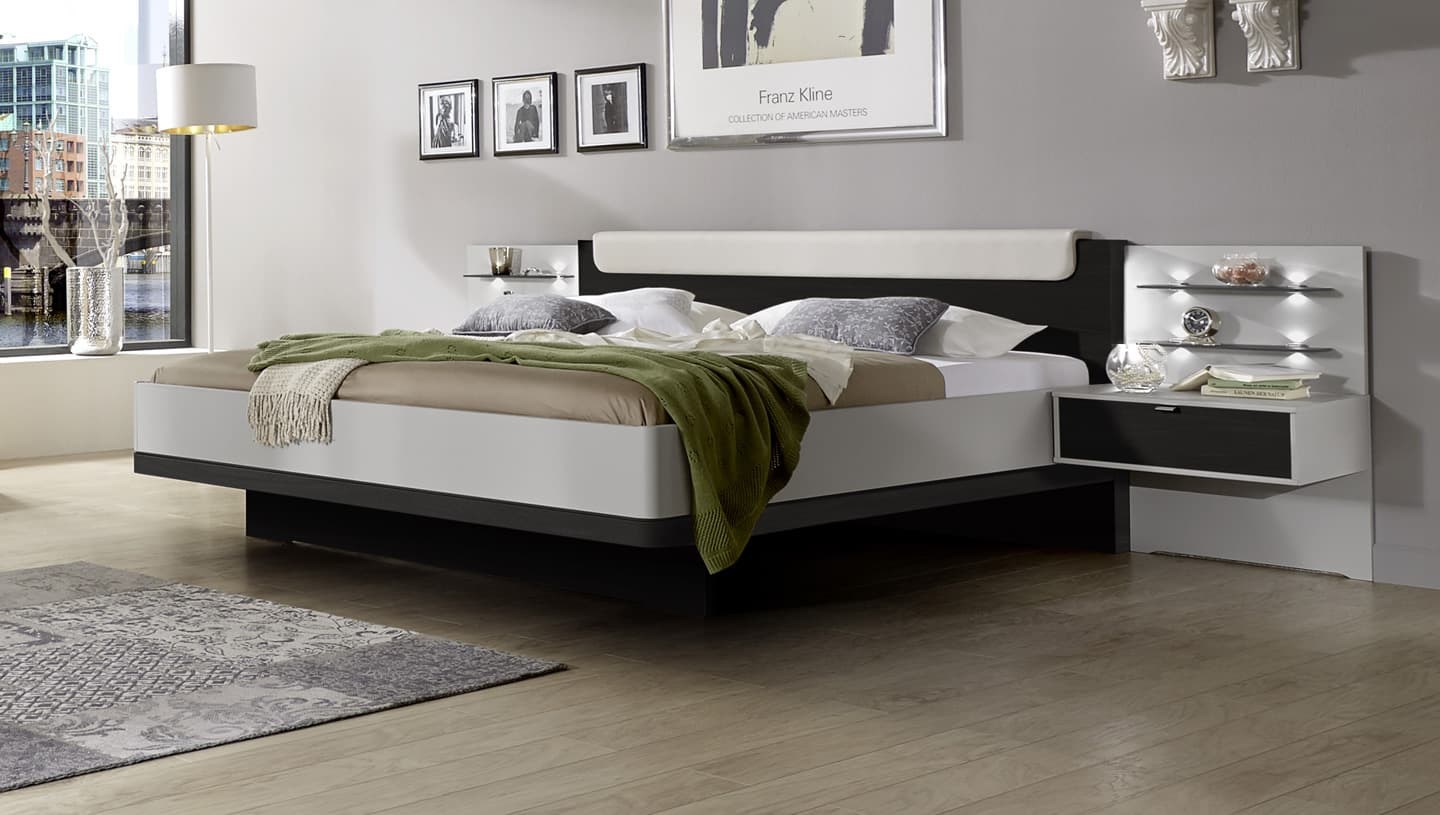 stylform hypnos modern bed in champagne and noce