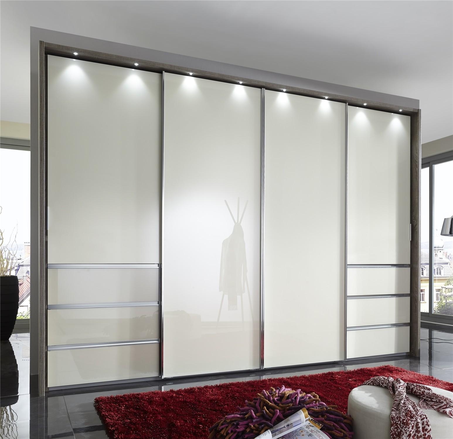 timeless design c238b b2102 Stylform HELIOS - 250-330cm Glass/Wood/Mirrored Sliding Wardrobe with  optional drawers