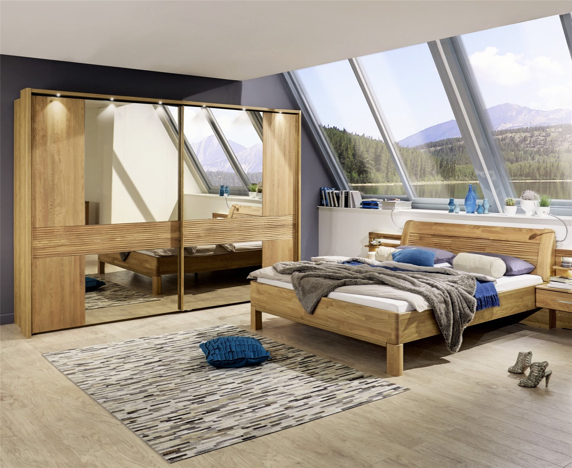 Contemporary Bedroom Furniture Sets Iris by Stylform Solid Oak