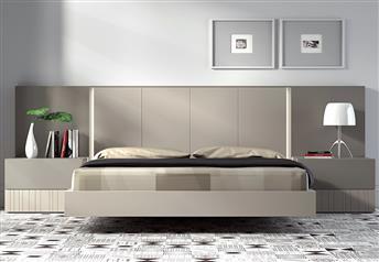 size 40 ab4fb bddba Guardia IRIS Contemporary Floating Bed in matt, wood veneer or high gloss