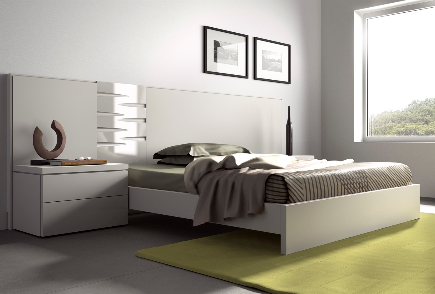 guardia dana contemporary floating bed