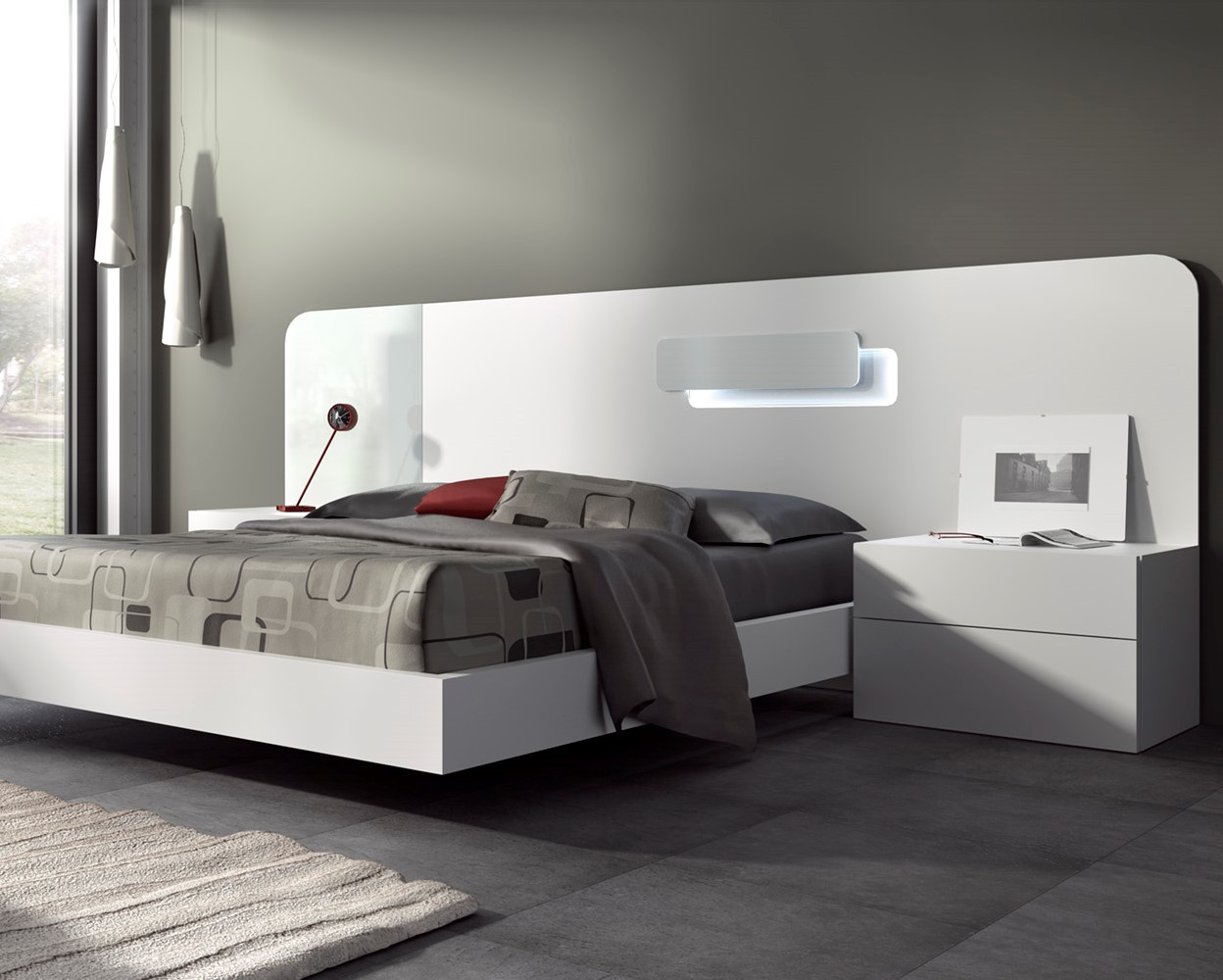guardia day contemporary floating bed