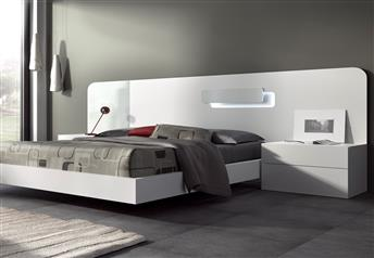 Guardia - DAY Matt Lacquer with details in high gloss Modern Bed