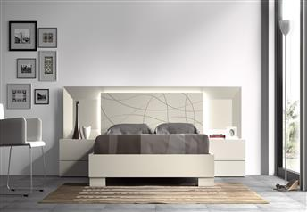 Guardia - MARINA Matt Lacquer or High Gloss Modern Bed