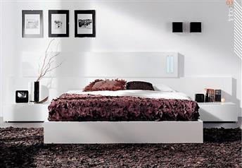 Guardia - SEVILLA Modern Bed with Glass Wall Panel