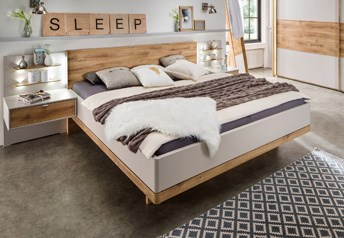 Stylform HYPNOS Modern Bed in Champagne & Oak