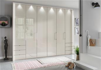 Stylform EROS - 150-300cm Wardrobetouch-open bi-fold doors & optional drawers/mirrors