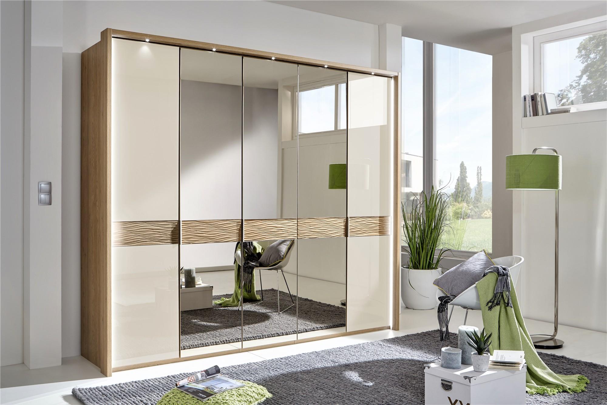 Modern Designer Wardrobes Stylform Doris Solid Oak And Glass