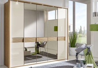 Stylform DORIS - 150-300cm Hinged Door Wardrobesolid oak frame with glass or mirror doors