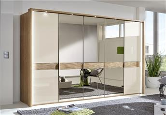 Stylform DORIS - Solid Oak and Glass/Mirror Wardrobe